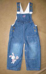 Утепленные комбинезон джинсы-меховушки на девочку 1, 5-3г-3, 5г