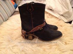 Качественные модные кожаные ботинки Bullboxer. 40 39, 5.