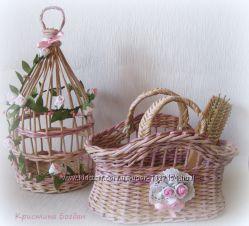 Интерьерная сумочка и клетка Розочки