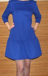 Теплое женское платье с оборкой по низу -Хит продаж.