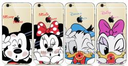 Силиконовые чехлы для iPhone 5 5S 5SE 6 6S  Микки Маусами.  Чехол ультра