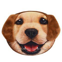 Мягенький кошелек с принтом собачки