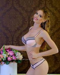 Комплект жіночої білизни Lora Iris, сіро-рожевий, рожево-сірий