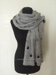Модный женский теплый меланжевый шарф