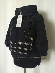 Женская корткая теплая куртка лапки