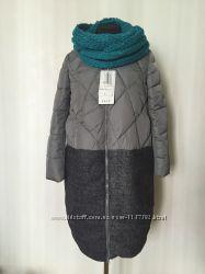 Демисезонное женское пальто стеганный из шерсти