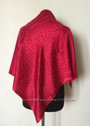 Однотонный женский платок косынка