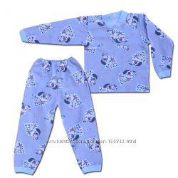 Теплая пижама с начесом на 2-х пуговицах