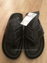 Кожаные мягкие шлепки H&M 36р