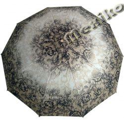 Бесплатная доставка. Модный зонт ZEST полуавтомат, серия 10 спиц, расц Розы