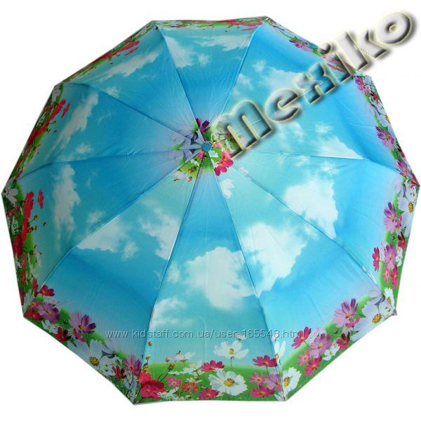 Модный зонт ZEST, полуавтомат, 10 сп, расц Анрия