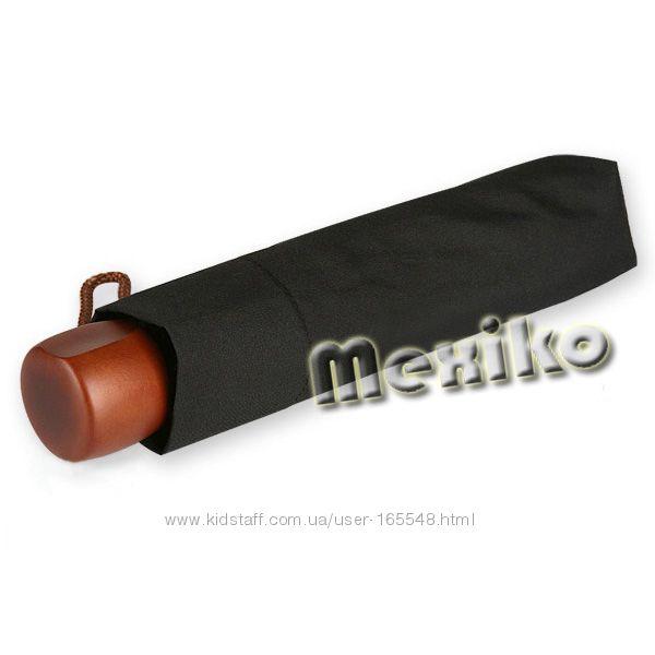 Компактный мужской зонт Zest механика с дерев ручкой