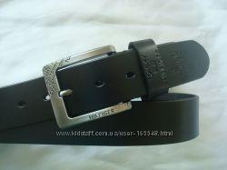Модный кожаный черный ремень TOMMY HILFIGER