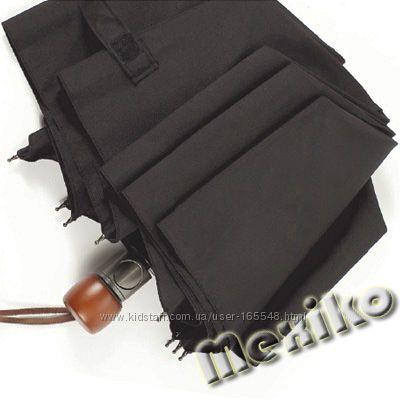 Бесплатная доставка. Мужской зонт Zest полуавтомат, прямая деревянная ручка