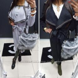 Кашемировое пальто очень красивое оригинальное с поясом