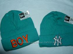 Новые молодежные шапки, цвет мятный, р-р универсальный 52-56 см