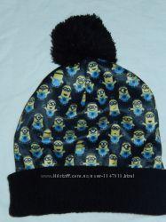 Классная шапка с миньонами, р-р универсальный, унисекс
