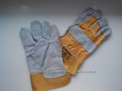 Перчатки хб со спилковой накладкой