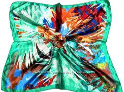 Шейный платок модный шелковый. Много модных  расцветок.