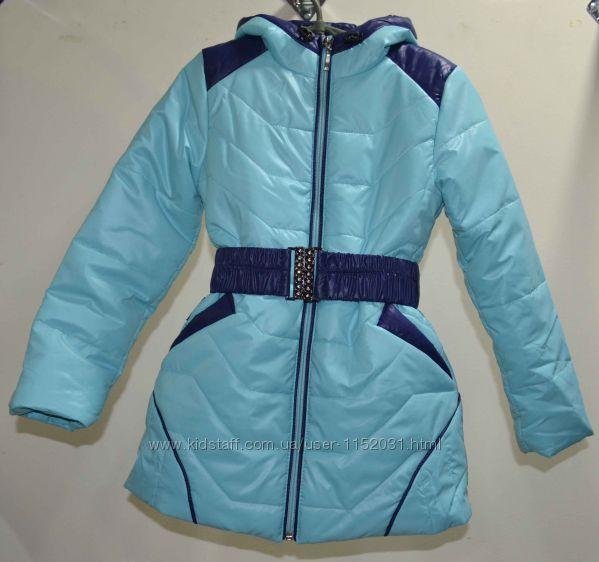 Пальто детское куртка удлиненная р-ры 104 -116, ТМ Одягайко