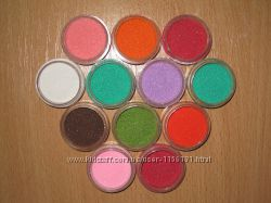 Акриловая пудра Бархатный песок . Декор для ногтей. 12 разных цветов.