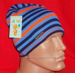 Вязанная однослойная шапочка для мальчика