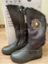 Акция на зимние кожаные сапоги, р. 33-38, стелька 21, 5-24 см.