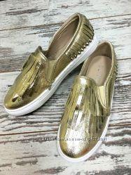 ботиночки слипы золото 39р