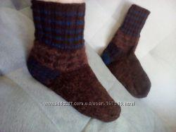 Теплые вязаные носки ручной работы шерсть