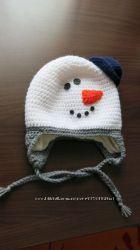 нова зимова шапочка - сніговичок на Ог 46 см