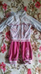 Велюровый спортивный костюм для девочки