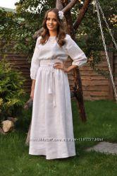 Сукня вишита білим по білому