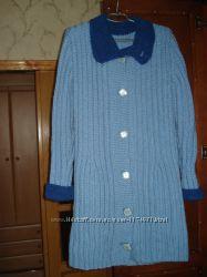пальто женское вязаное кардиган новое 48р теплое