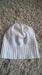 коттоновая белая шапка