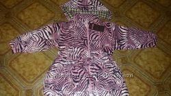 Куртка-Плащ для девочки на сентипоне, с поясом  Есть размеры