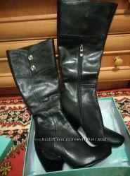 Новые кожаные сапоги деми