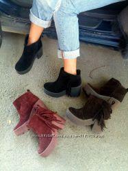 Женские ботиночки из натуральной замши в разных цветах.