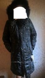 Оригга Батальное зимнее теплое пальто куртка 52 р опушка -песец одинарный