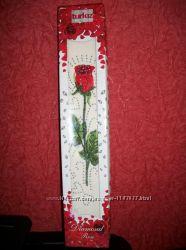 Красивое полотенце Роза с камнями подарочное