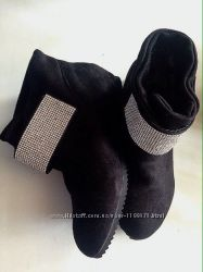 Ботинки замшевые 37 р 24 см стелька