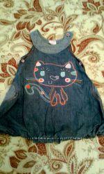 Продам джинсовые сарафаны на девочку 80-98 р.