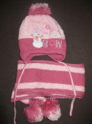 Продам шапку и шарф для девочки 3-4 лет