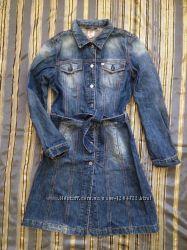 Джинсовое платье плащ куртка