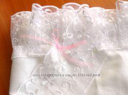 Крыжма для крещения девочки Хлопковая натуральная ткань Бесплатная доставка
