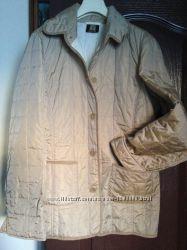 куртка жакет пиджак бежевый перламутр стеганая