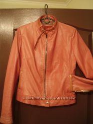 куртка кожа натуральная цвета фуксии