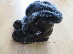 Сапожки зимние с натуральной опушкой