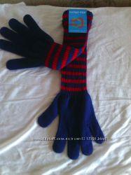 Перчатки синие с красной полоской gold-tex обхват ладони 19 см