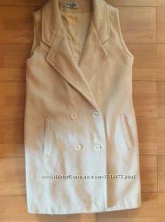 Кашемировый жилет пальто