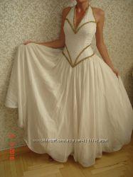 Платье вечернее свадебное для бальных танцев бисер, камни